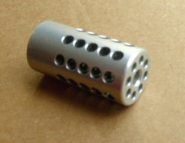 Tactical Solutions 10/22 Threaded Compensator - Silver